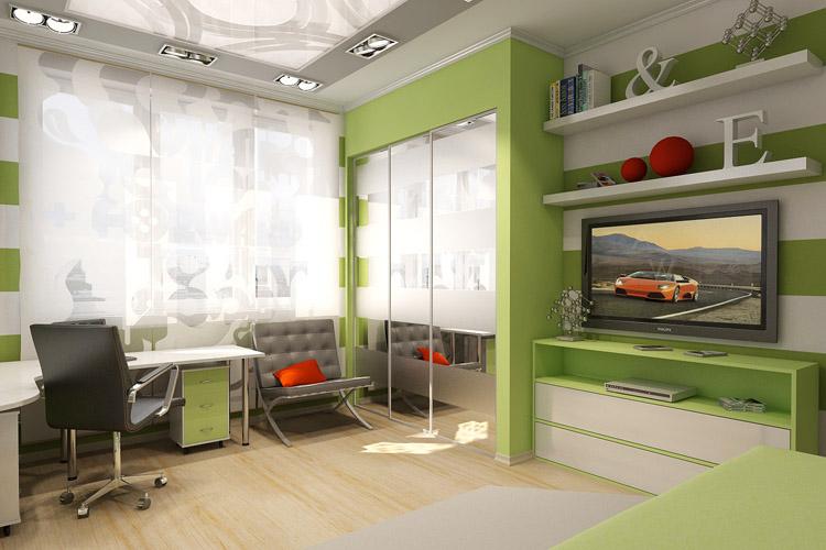 Визуализация детской комнаты для студии дизайна интерьера. с.